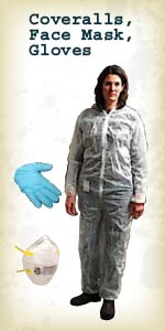 Coveralls, Face Mask, Gloves